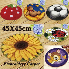 45*45Cm Diy Blank Rug Hooking Mesh Canvas Latch Hook Rug Making Carpet Kit Us