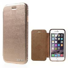 Protection sac Housse Flip cover Coque F iPhone 6 4.7 luxe strass rose gold 94e