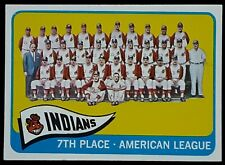 1965 Topps #481 CLEVELAND INDIANS Team Photo Card NM/M $1 Shipping