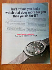 1971 Bulova Watches Ad  Date & Day Watches
