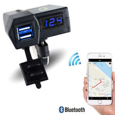 Dual USB 3.1A Motorcycle LED Charger Digital Voltmeter w/ Phone Location App 1x