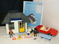 Playmobil 3623 Police Station and Jail w/ Car & Motorcycle