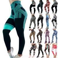Women's Sports Yoga Pants Push Up Leggings High Waisted Gym Workout Fitness O26
