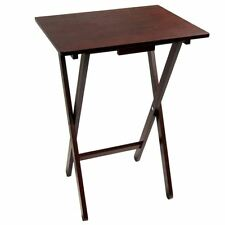 Folding Wooden Snack Table Desk Foldable Portable Laptop Coffee Tables Mahogany