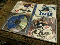 EA Sports PC LOT NHL 2001, FIFA 2002, Madden 2000, NBA LIVE 2000  VINTAGE