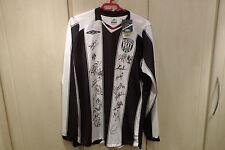 West Bromwich Albion Montante Settimanale del beneficio 2008 2009 SQUADRA firmato Home Camicia a Maniche Lunghe Grande