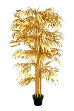 Bambus Gold 1,60 m Kunstbambus Kunstbaum Kunstpflanze künstlicher Bambus Deko