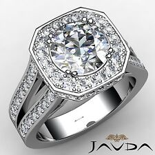 2.34ct Natural Round Diamond Engagement Ring GIA F Color SI1 14k White Gold