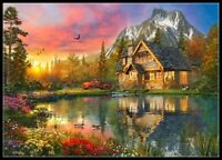 Mountain Cabin Home -Chart Counted Cross Stitch Pattern Needlework Xstitch craft
