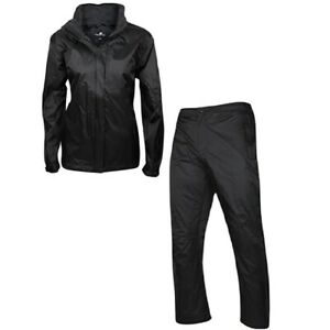 New Women's Weather Company Golf Waterproof Rain Suit Black - Choose Size!