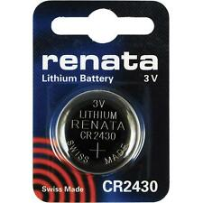 CR2430 Coin Battery Pack Renata 3V / for Watches Cameras Car Keys Torches