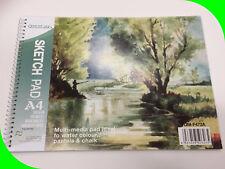 30 Sheets A4 Sketch Paper Pad Sketchbook Pastels Artist Drawing Craft Kraft Art