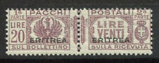 Eritrea 1927 Sass. 31 MNH 100% parcel post 20 l.