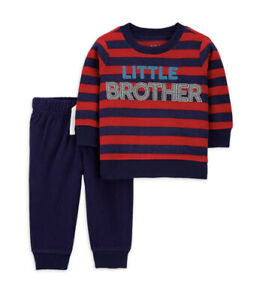 Child of Mine by Carters Long Sleeve Shirt And Jogger Pant Little Brother 3-6m