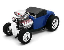 1932 Ford Model B Roadster MUSCLE MACHINES Diecast 1:18 Scale Blue