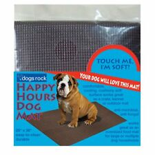 """Dogs Rock Happy Hours 25""""X36"""" Puppy Crate Training WaterProof Cut To Fit Mat dog"""