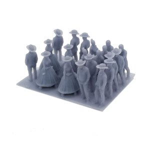 Outland Models Railroad Scenery Old West People Figurine Set HO Scale 1:87