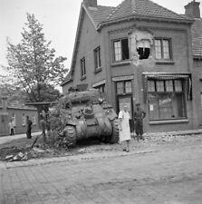 WW2  Photo WWII Dutch Baker  British Sherman Tank 1944 World War Two / 1607