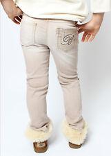 Miss Blumarine Jeans Logo Kristallen beige Gr.6/116 NEU