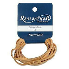 "2 Yds. Deerskin Gold Leather Lace 1/8"" Craft and Jewelry Beading Cord"