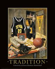 Iowa Hawkeye Basketball Motivational Poster Art Vintage Tickets Hawks MVP36