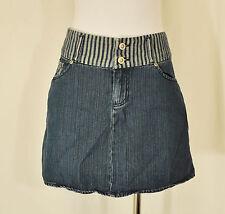 Vtg 90s Urban BoHo Chic Rocawear Denim Front Pockets Mini Skirt 5/6