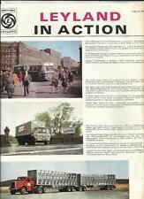 """LEYLAND """"en action"""" truck camion brochure @ 1970 multilingues-anglais compris"""