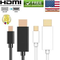 New Mini Display Port DP to HDMI Cable High Speed ThunderBolt Cable Adapter 6FT