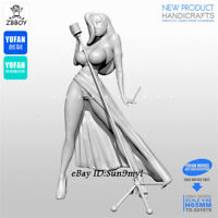 Modern Singer Girl Unpainted Resin Kits Model GK Figurine YuFan 65mm