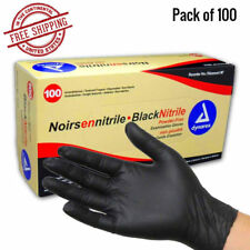 Black Gloves Nitrile Powder Free Latex Rubber Heavy Duty Durable Quality Large