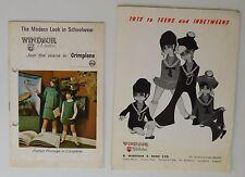 2 Vintage catalogues Windsor Woollies 1960s 1970s school uniform Crimplene tot π