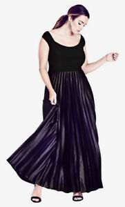 NWT CITY CHIC Passion Ombre Gown Maxi Dress - size 18 - size M - RRP $199.95