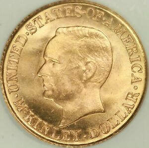 1916 McKinley Commem Gold $1 NGC MS65 CAC