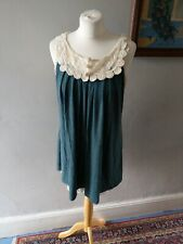 WOMENS LADIES STUNNING LACE EFFECT TUNIC SMOCK DRESS / TOP SIZE 10 12