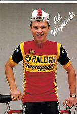 CYCLISME carte  cycliste AD WIJNANDS équipe TI RALEIGH 1982
