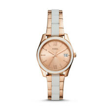 FOSSIL Scarlette Mini Three-Hand Date Rose Gold-Tone Stainless Steel Watch