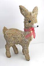 Gisela Graham Navidad Cerda Ciervo con topos lunares lazo adorno 48cm grande