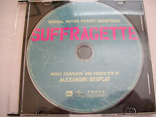 SUFFRAGETTE Movie CD Soundtrack Alexandre Desplat 16 Tracks NEW