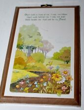 "Friend Wood Plaque - Norcross - Walk Beside Me - Wall Hanging - 8.25"" - New"