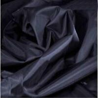 BLACK 4oz PU coated nylon waterproof fabric sold by the metre 150cm wide