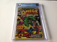 OMEGA THE UNKNOWN 2 CGC 9.6 WHITE PAGES COOL HULK COVER ELECTRO MARVEL COMICS