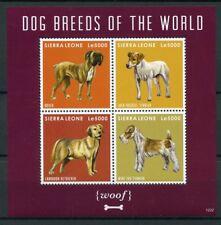 SIERRA LEONE 2012 Gomma integra, non linguellato razze canine BOXER Labrador Terrier 4v m/s Dogs stamps