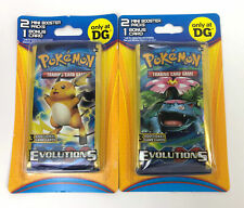 2 x Pokemon XY Evolutions 2 Mini Boosters 1 Bonus Cards DG Blister Pack (Lot)