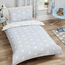 White And Grey Stars Single Duvet Cover Set Bedding