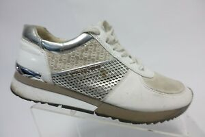 MICHAEL KORS Leather White Sz 9.5 Women Casual Sneakers