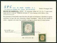 Sardegna 1857 Sass. 13A Usato 100% Cardillo Certificato