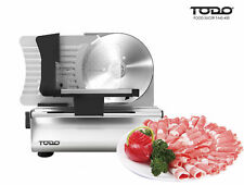 Deli Style Meat Slicer Food Processor 200W Electric Adjustable Stainless Steel
