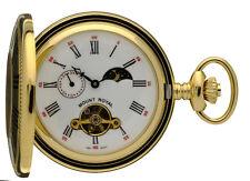 Le mont Royal plaqué or demi hunter montre de poche, 17 bijou mécanique ref b31p