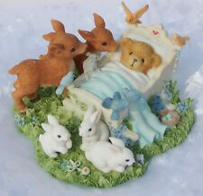 Cherished Teddies - Morgan - Baby Animals Figurine - New In Box c/w papers 2002