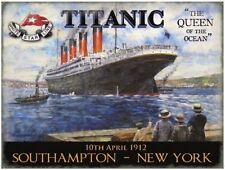 Titanic, Queen of the Ocean, Liner, Ships & boats, Picture Medium Metal/Tin Sign